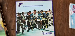 1968 - 69 St.  Louis Blues West Division Champions Dan Kelly Vinyl Album Record Lp