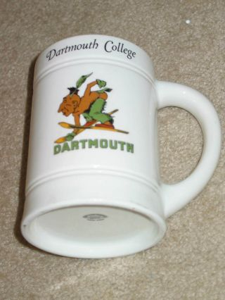 Dartmouth College Large 5/4 Inch Tall Ceramic Mug With Picture Of Indian Skiing