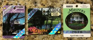 2004 2006 2010 Masters Augusta National Golf Club Ticket Badge Phil Mickelson