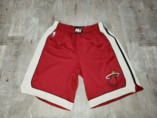 Adidas Authentic Miami Heat Athletic Team Basketball Shorts Mens Xl,  2