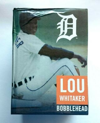 Lou Whitaker 1984 Bobblehead Detroit Tigers Sga 7/6/19 - - Water Box