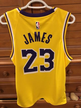 Authentic Nike Lebron James Lakers Jersey Size 48 Large Worn 1x