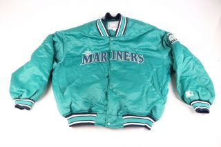 Starter Seattle Mariners Snap Button Quilted Baseball Jacket 2xl