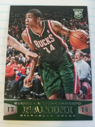 Giannis Antetokounmpo 2013 - 14 Panini Rookie Card 194 Bucks