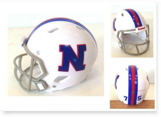 "Custom 1975 Nfl Pro Bowl Nfc Throwback White 2 "" Pocket Pro Football Helmet"