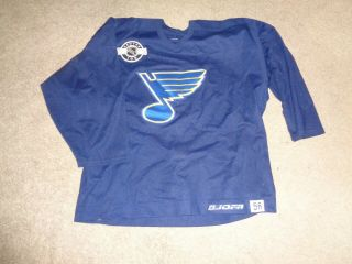 St.  Louis Blues Pro Jofa Center Ice Nhl Practice Worn Hockey Jersey Sz 56