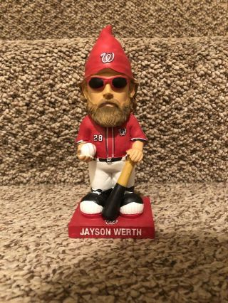 Washington Nationals Jayson Werth Garden Gnome - 2014 Sga - No Box/out Of Box