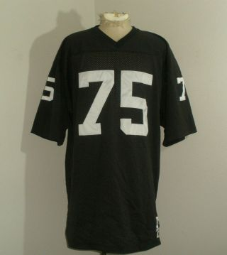 Mens Mitchell & Ness Oakland Raiders Howie Long 75 Sewn Nfl Football Jersey 56