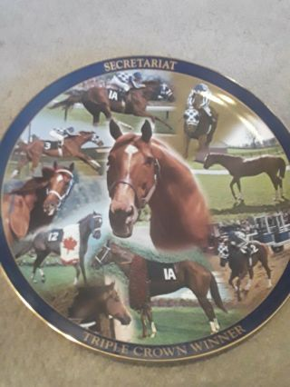 Danbury Secretariat Triple Crown Winner Plate