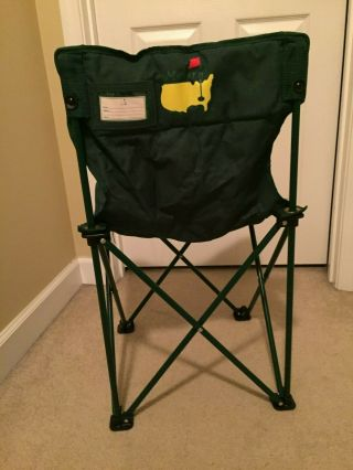 Official Masters Tournament Chair Folding Lawn Chair With Carry Bag Spectators