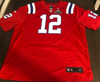 Tom Brady Throwback Jersey Xxl Nike Game Jersey Sb Xlix Patch Euc Patriots