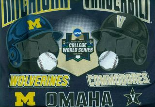 2019 College World Series Cws Michigan Vs.  Vanderbilt Xl T Shirt