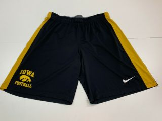 Iowa Hawkeyes Football Men's Nike Black/yellow Shorts - Large