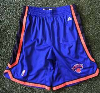 Adidas Nba York Knicks Shorts Men's 34 Blue Authentic Mesh