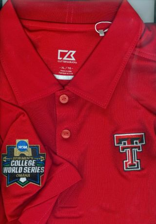 2019 College World Series Cws Texas Tech Red Raiders Red Xl Polo Shirt