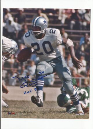 Dallas Cowboys Mel Renfro Autographed 8x10 Photo Nfl Hall Of Fame