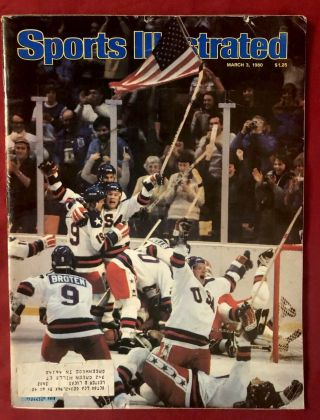 Sports Illustrated March 3,  1980 Usa Olympic Hockey Miracle On Ice