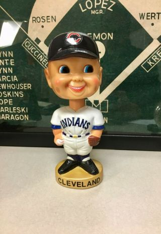 1974,  Chief Wahoo,  Cleveland Indians Nodder,  Bobblehead,  By Goodman