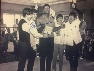 Muhammad Ali 8x10 Signed The Beatles
