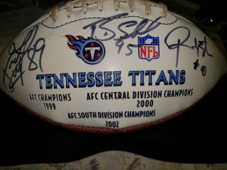 Nfl Tennessee Titans Signed Limited Football Afc Champions Divisional Champs