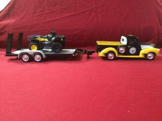 Pittsburgh Steelers Diecast 1940 Ford Pickup,  Trailer And Atv