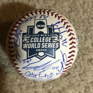 2019 Mississippi State Bulldogs Signed College World Series Game Ball