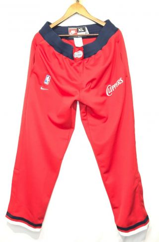 Retro Nike 83 Team Issued Los Angeles Clippers Warm Up Red Sweat Pants Size Xl