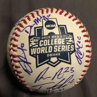 2019 Florida State Seminoles Signed College World Series Game Ball