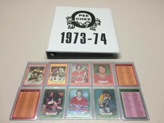 1973 74 Opc O - Pee - Chee Complete Set 264 Cards Ex - Mt Robinson Barber Smith Rookie