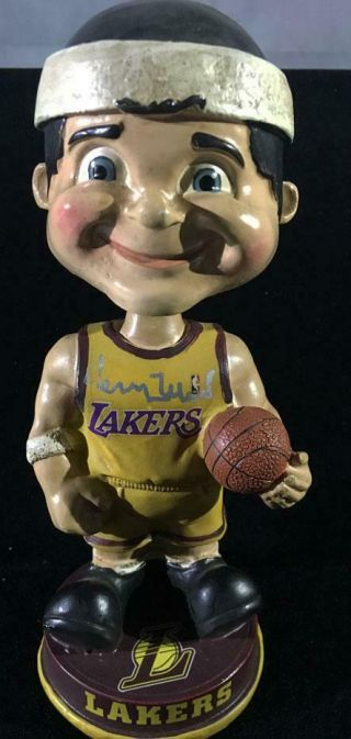 "Jerry West One Of A Kind Forever Coll.  7 "" Signed Lakers Bobble Head Doll Psa/dna"
