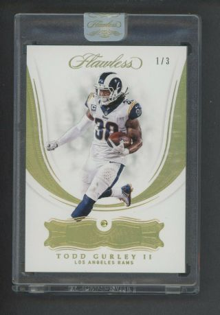 2018 Panini Flawless Yellow Canary Diamond Todd Gurley Ii Rams 1/3