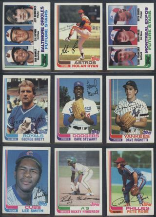 1982 Topps Baseball Complete Set W/ Cal Ripken Jr.  Rookie Hof (792) (nm/mt) 946