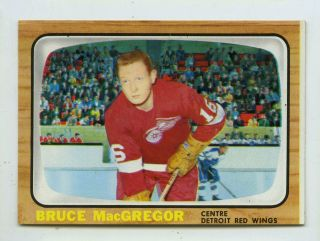 1966 - 1967 Topps Usa Test Issue Bruce Macgregor 56 Hockey Card Vending