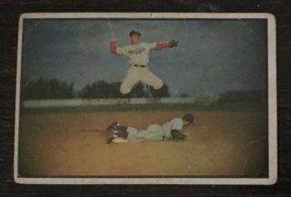 1953 Bowman Color Pee Reese Brooklyn Dodgers 33 (low Grade)