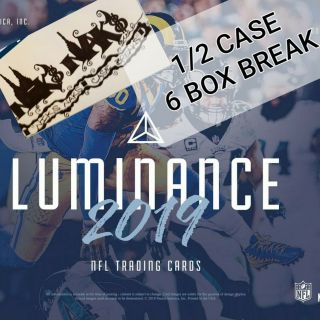 Kansas City Chiefs 2019 Luminance Football 1/2 Case 6 Box Break 3 Panini