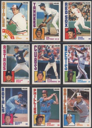 1984 Opc O - Pee - Chee Baseball Complete Set W/ Mattingly Rc (396) (nm/mt) 695951