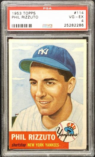 Topps 1953 Phil Rizzuto Psa 4