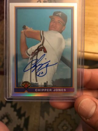 Chipper Jones Auto Bowman Baseball Card