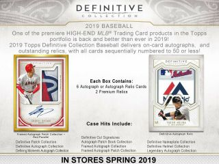 Washington Nationals 2019 Topps Definitive Baseball 1 Box 1/3 Case Break 3