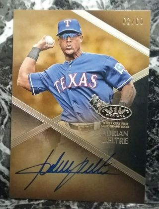 2019 Topps Tier One Baseball Adrian Beltre On Card Auto 2/60 T1a - Ab