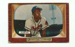 Hank Aaron 1955 Bowman 179 Braves