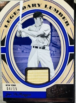 2019 Lumber And Leather Joe Dimaggio Bat Piece Ssp /15