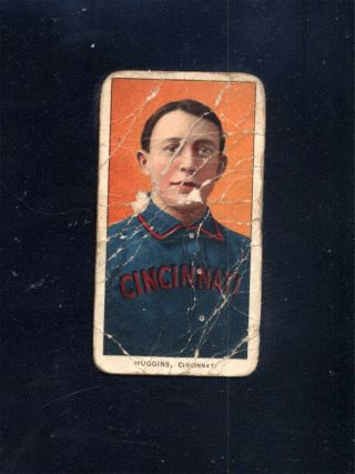 1909 - 11 T206 Miller Huggins Portrait Sweet Caporal Back Cincinnati (poor) 95631