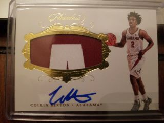 Collin Sexton 2018 Panini Flawless Collegiate 109 Rc Rookie Patch Auto 24/25