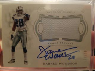 2018 Panini Flawless Darren Woodson Patch Auto Cowboys Legend