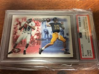 2000 Skybox Dominion Tom Brady Rookie Psa 9