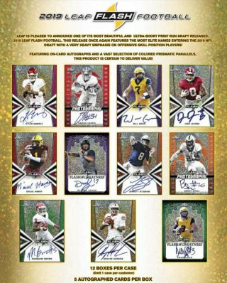 San Francisco 49ers 2019 Leaf Flash Football 6 Box Half Case Break 1