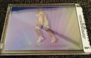 Zion Williamson Blue Refractor - - Encased