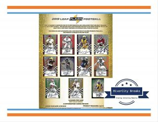 2019 Leaf Flash Fb 12 - Box (full Case) Break 6/8 - Pittsburgh Steelers