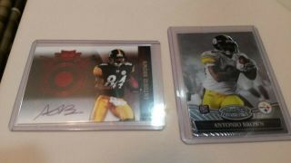 2010 Topps Panini Rc Auto Antonio Brown 446/449